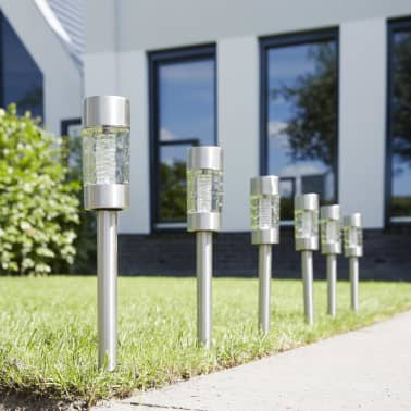 Luxform Solar LED Garten-Wegeleuchten Altea 4 Stk. Edelstahl 30425[2/6]