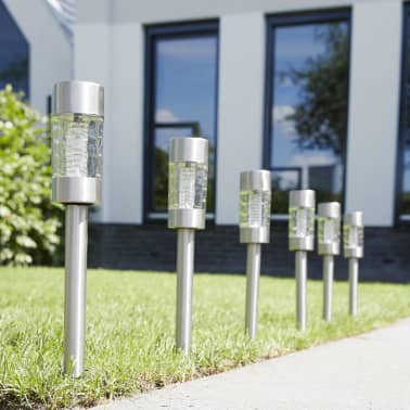 Luxform Solar LED Garten-Wegeleuchten Altea 4 Stk. Edelstahl 30425[3/6]