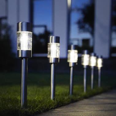 Luxform Solar LED Garten-Wegeleuchten Altea 4 Stk. Edelstahl 30425[4/6]