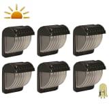 Luxform LED-wandlampen voor de tuin solar zwart 6 st 30649