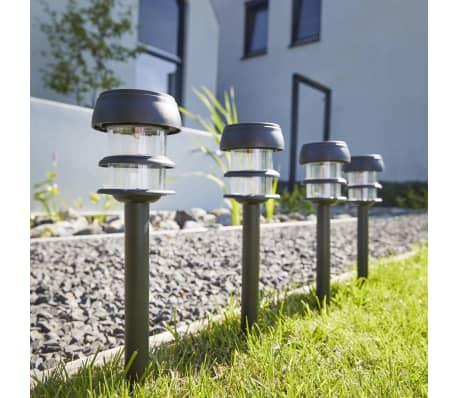 Luxform balizas solares led de jard n lagos 6 unidades for Balizas solares para jardin