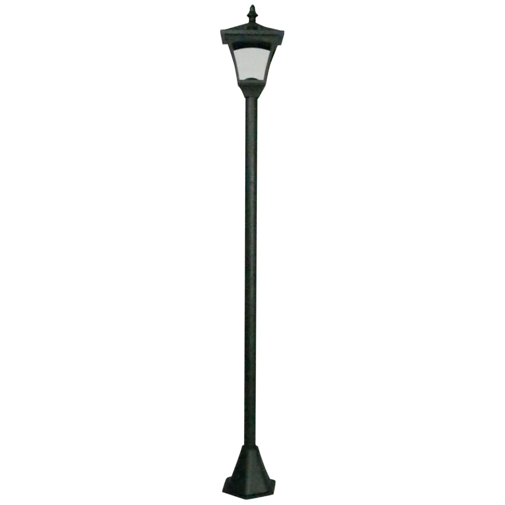 Luxform Tuinpaal met LED-lamp solar Casablanca zwart 31159
