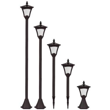 Luxform Lampe LED solaire de jardin à piquet Casablanca Noir 31159[2/7]