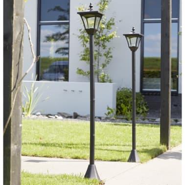Luxform Lampe LED solaire de jardin à piquet Casablanca Noir ...