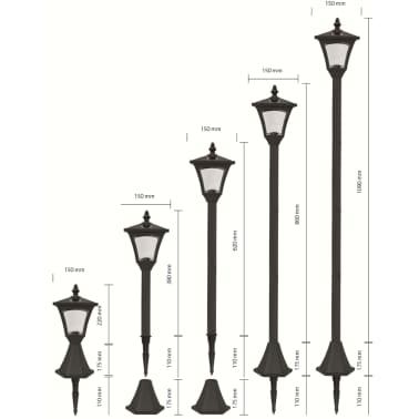 Luxform Lampe LED solaire de jardin à piquet Casablanca Noir 31159[6/7]