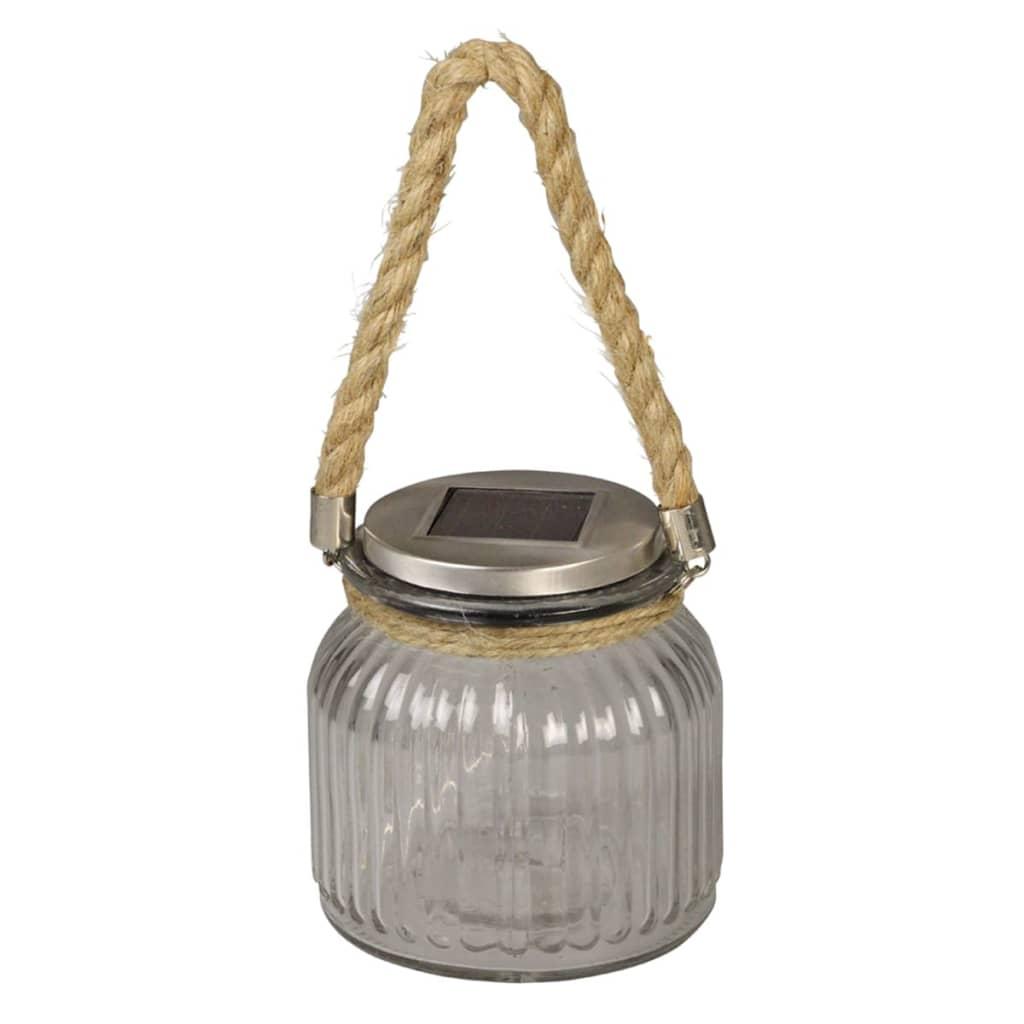Luxform Solar LED-verlichting glazen pot transparant 33100