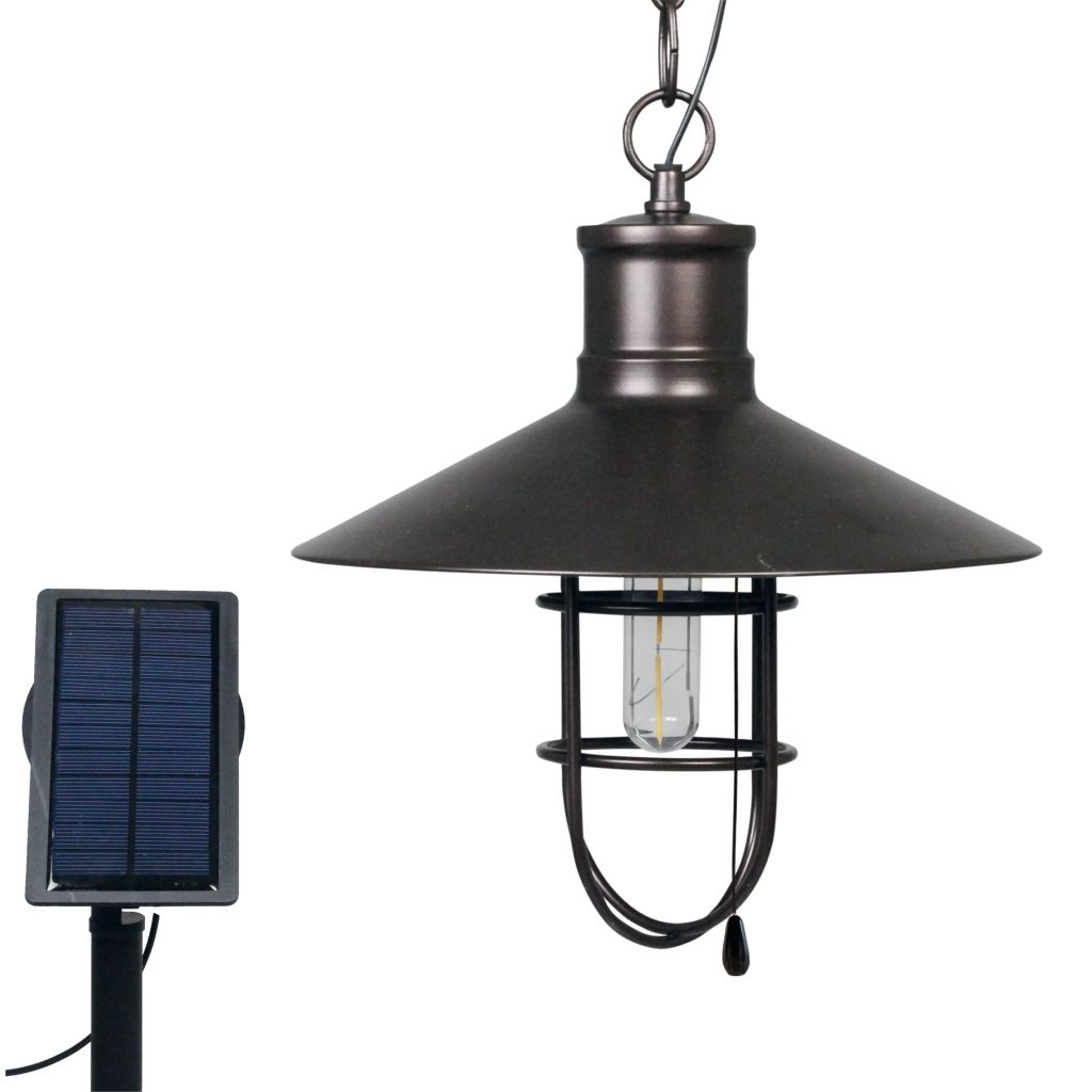 Luxbright Solar LED-tuinlamp Caledon donkerbrons 34112