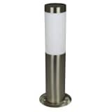 Luxbright Solar-LED-Pollerleuchte Gartenleuchte Idaho Silbern 39135