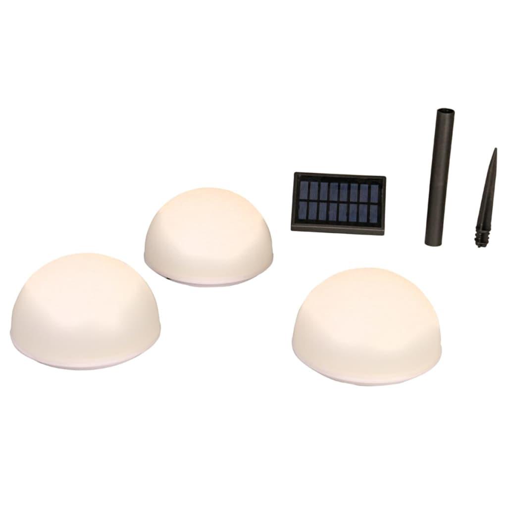 Luxform Φωτιστικά Ηλιακά Δαπέδου Κήπου LED Clervaux 3 τεμ. Λευκά 40300