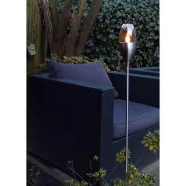Luxform Lampe solaire de jardin Candle Torch 2 pcs Inox ...