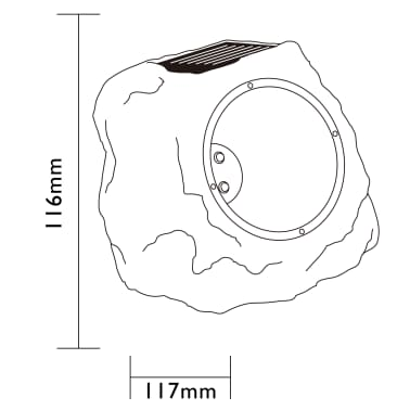 Luxform Ogrodowe Lampy Solarne Led Kamienie Andes 3 Szt