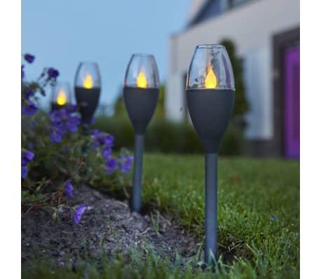 Luxform Lampe LED solaire à piquet de jardin Jive 4 pcs Gris 41466[5/6]