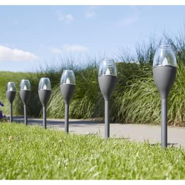 Luxform Lampe LED solaire à piquet de jardin Jive 4 pcs Gris 41466[4/6]