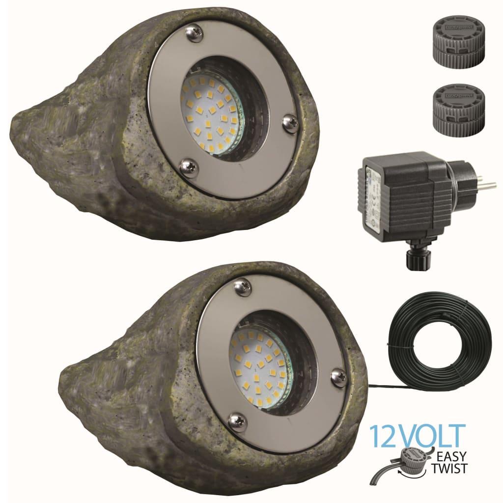 Luxform Tuinlampen steenvormig Tatra 12 V 2 st 60254