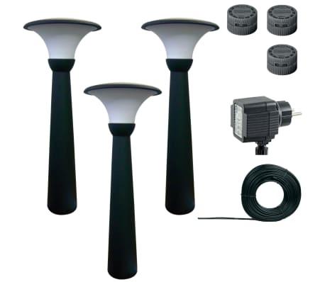 Luxform Borne d'éclairage de jardin Perth 3 pcs 12 V 70 cm Anthracite 89346[2/8]