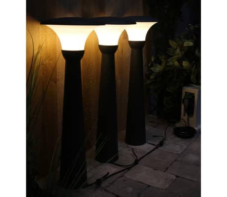 Luxform Borne d'éclairage de jardin Perth 3 pcs 12 V 70 cm Anthracite 89346[3/8]