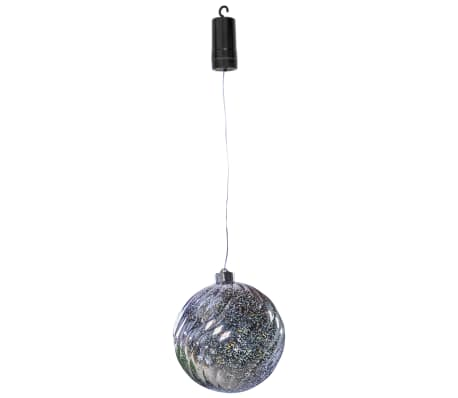 Luxform Lampa wisząca LED X-Mass Ball Swirl, na baterie, srebrna