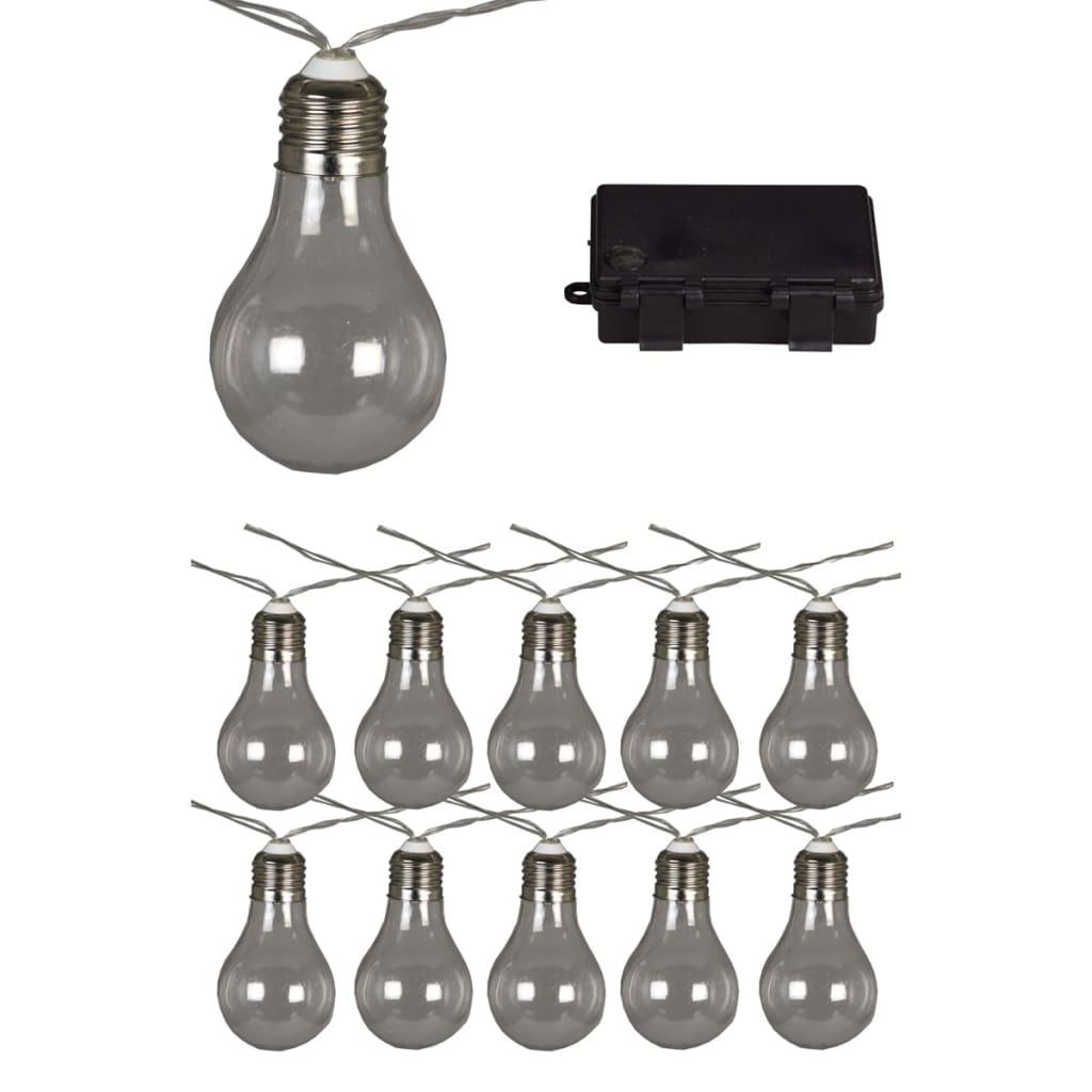 Afbeelding van Luxform Feestverlichting op batterijen met 10 LED's doorzichtig 95110
