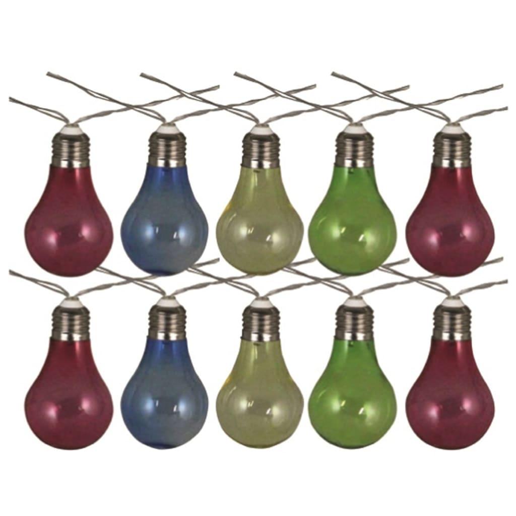 Luxform Feestverlichting op batterijen met 10 LED's kleurrijk 95111