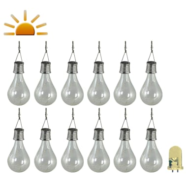 Luxform Lampe LED solaire de jardin 12 pcs Transparent 95220[1/6]