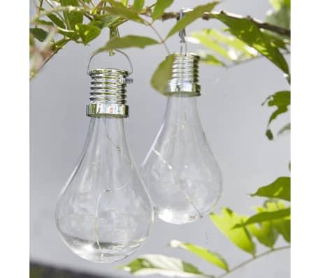 Luxform Lampe LED solaire de jardin 12 pcs Transparent 95220[4/6]