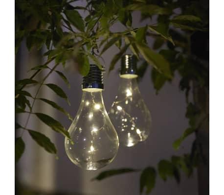 Luxform Lampe LED solaire de jardin 12 pcs Transparent 95220[5/6]