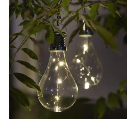Luxform Lampe LED solaire de jardin 12 pcs Transparent 95220[6/6]