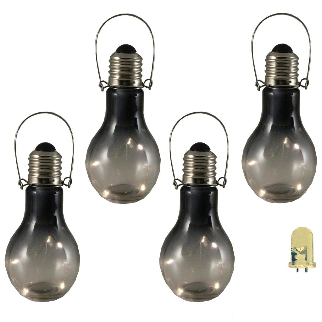 Cet ensemble d'éclairage déco à LED de jardin de la marque Luxform se compose de 4 lampes au look cool et industriel qui émettent une lumière agréable et douce.