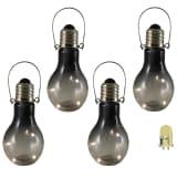 Luxform Tuindecoratie LED-lamp rookglas 4 st 95433