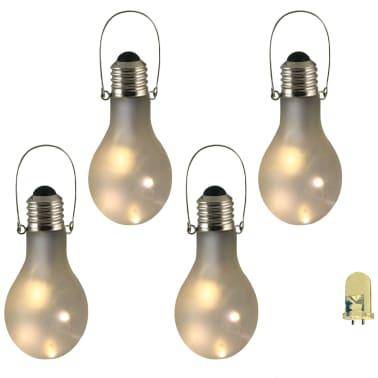 Luxform Dekoracyjne Lampy Ogrodowe Led 4 Szt Szkło Matowe 95434