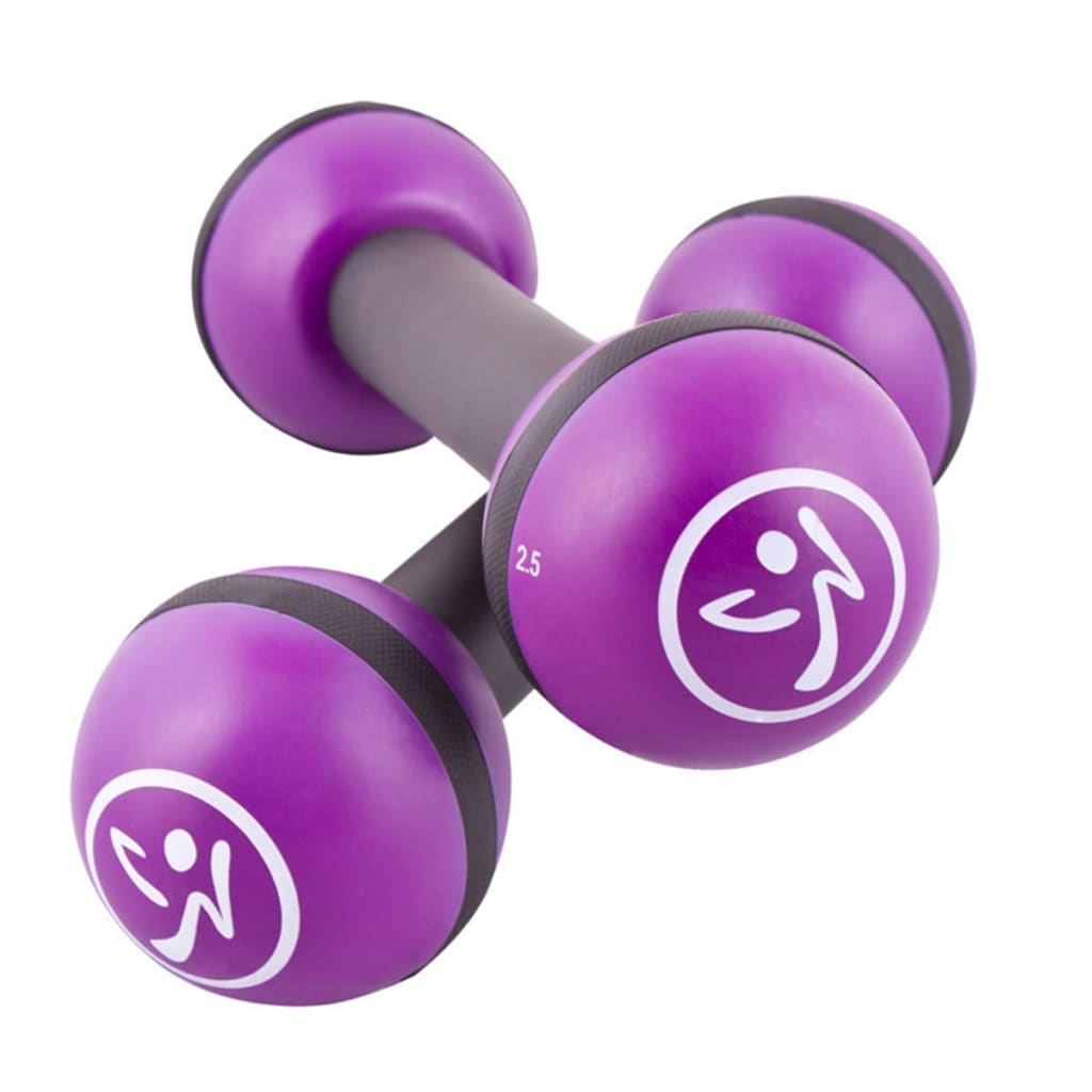 Zumba Gantere pentru tonifiere, 2 buc., 2 kg, violet, ZUM011 vidaxl.ro