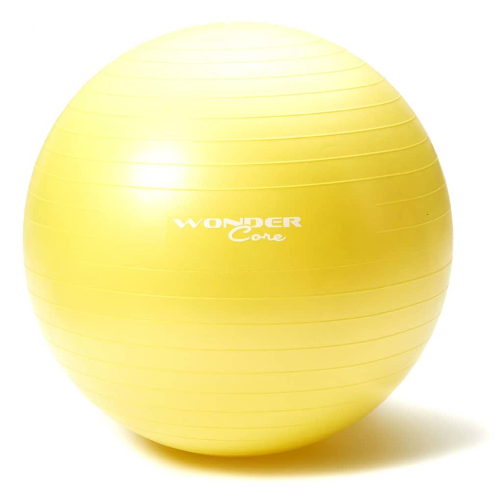 Wonder Core Gymnastikboll Anti-Burst 75 cm gul WOC029