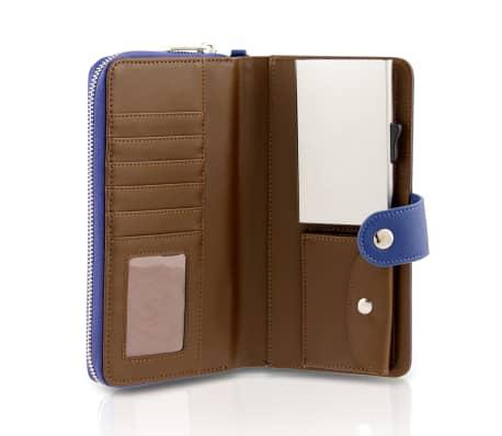 Card Guard Portfel chroniący karty, damski, niebieski, CAG006