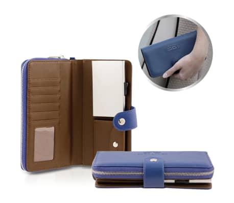 Card Guard Geldbörse mit Kreditkartenschutz Frauen Blau CAG006[3/4]