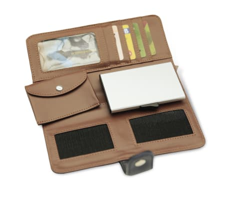 Card Guard Geldbörse mit Kreditkartenschutz Frauen Blau CAG006[4/4]