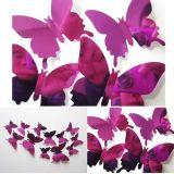 LM Baby Art - 3D vlinders effen spiegel paars - 12 stuks