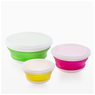 Bravissima Kitchen Vouwbare Lunchboxen (3 stuks)[5/5]