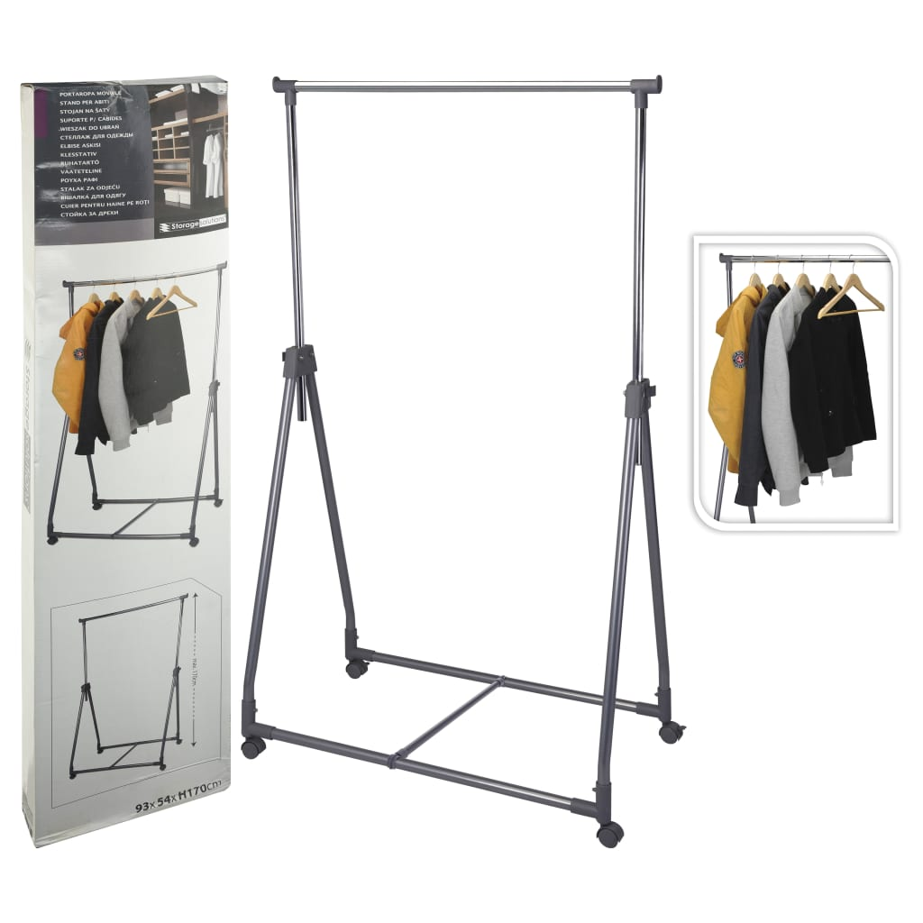 Storage solutions Suport de îmbrăcăminte, 4 roți, metal poza vidaxl.ro