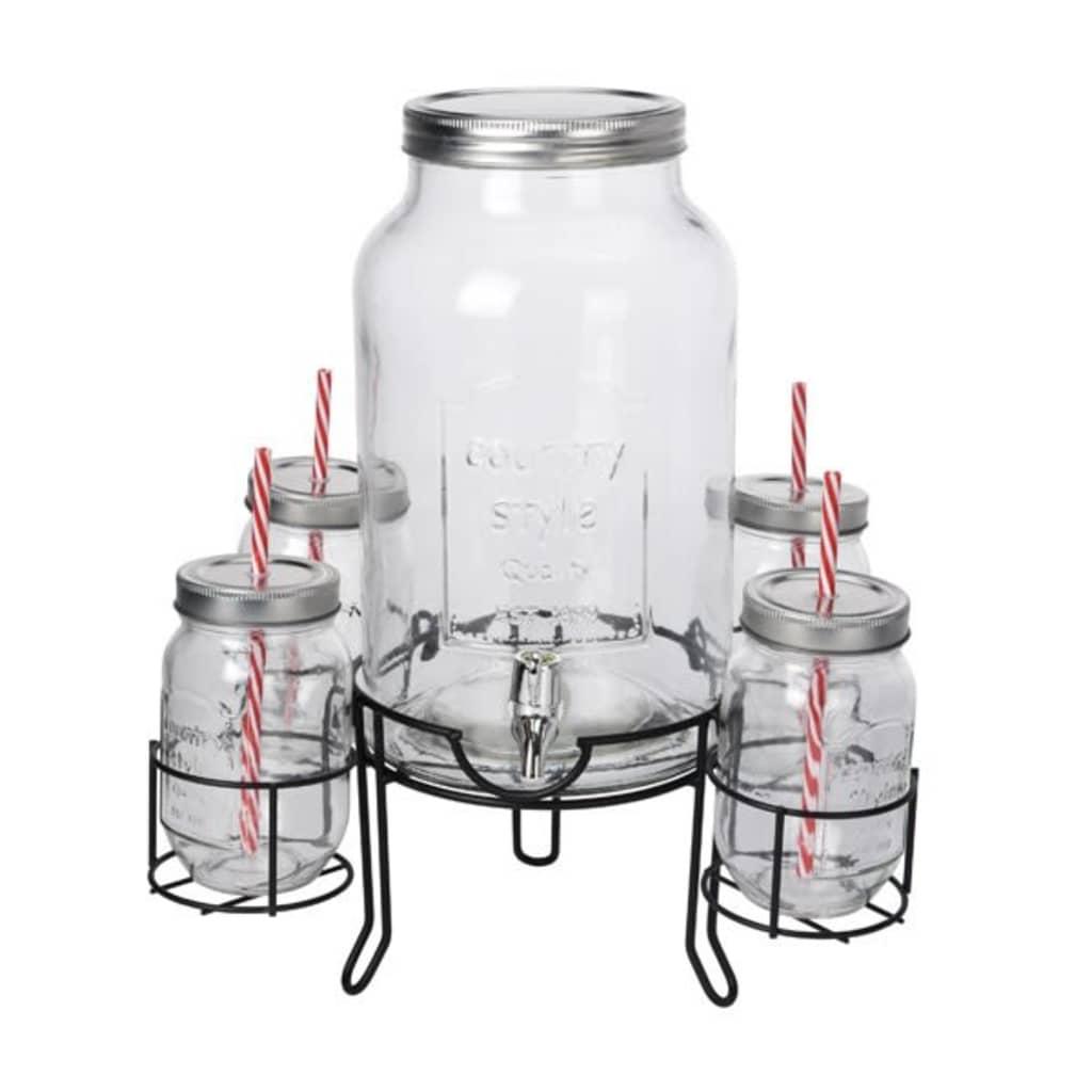 Afbeelding van HANOO Drankdispenser / Limonadekan met glazen 4500ml