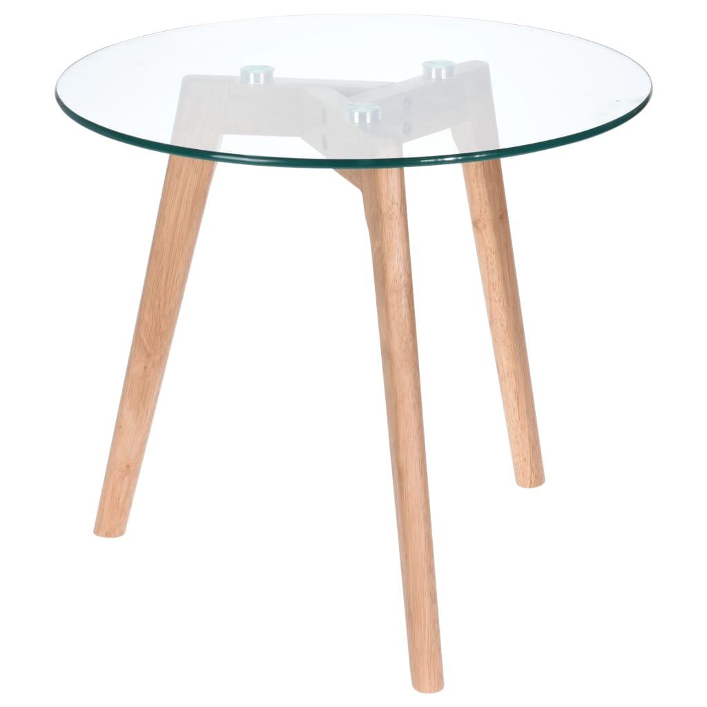 Afbeelding van Home&Styling Home&Styling Bijzettafel 50x45 cm hout en glas