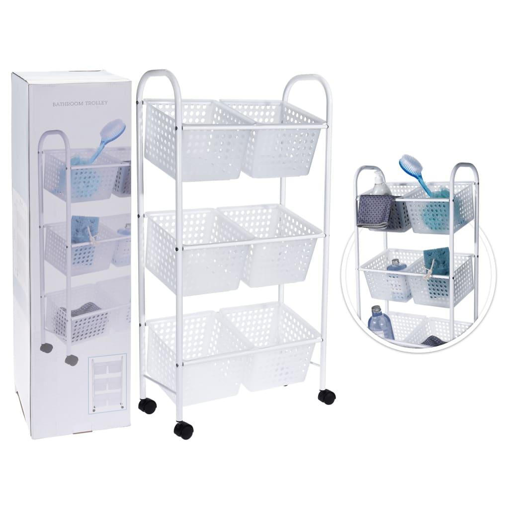 Afbeelding van Bathroom Solutions Badkamertrolley met 6 manden