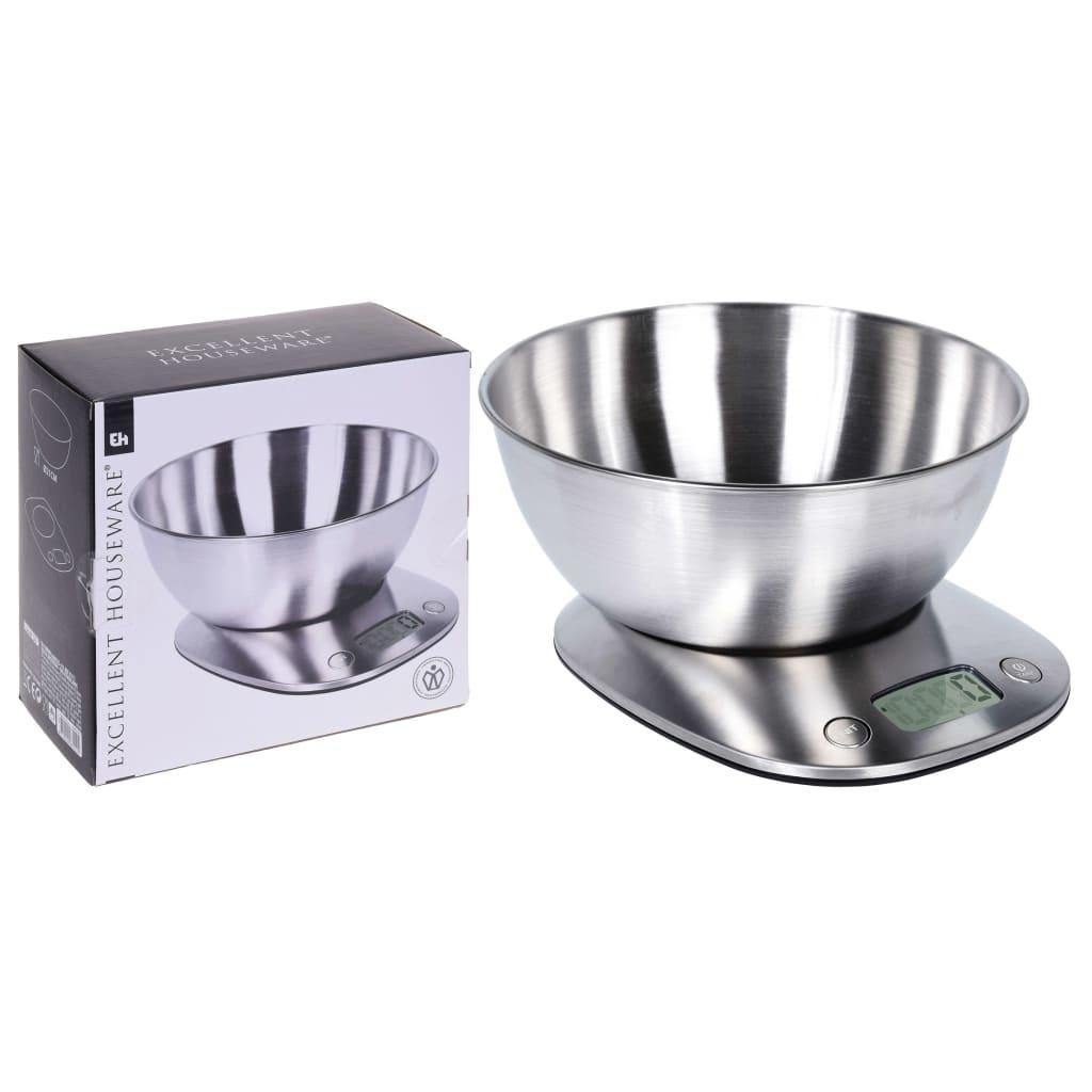 Excellent Houseware Balance de cuisine avec bol en acier inoxydable