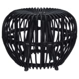 Home&Styling Sgabello Brussel in Rattan Kubu Nero