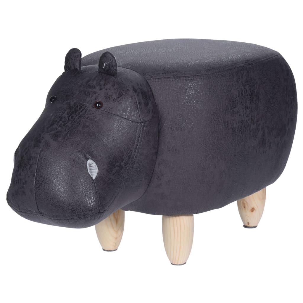 Afbeelding van Home&Styling Home&Styling Kruk nijlpaard-vorm 64x35 cm