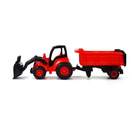 Polesie Tractor with Front Loader and Trailer 87x23x26 cm Red 1450662[1/2]
