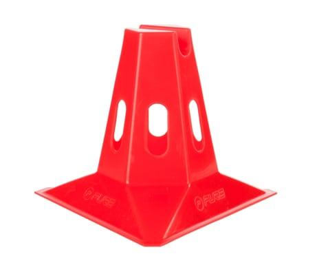 Pure2Improve Conos de entrenamiento 6 piezas 150 mm rojo[2/3]