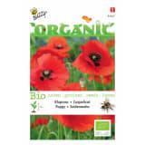 5 stuks Organic Papaver, Klaproos Rood (BIO)