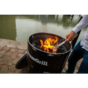 Drumgrill Small 60 Liter Holzkohlegrill, Feuerstelle, Und Tischplatte