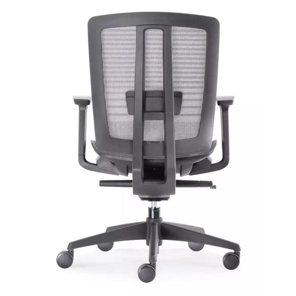 Bens BenS 816D. Lux, topmodel bureaustoel met ?zwevende? zitting. Zwart.