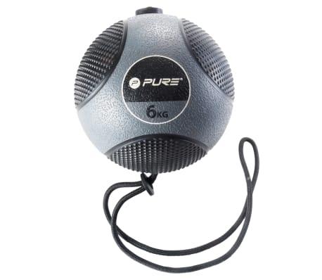 Pure2Improve Medisinball med tau 6 kg grå[2/14]